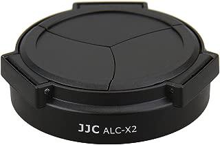 JJC ALC-X2 Professional Self-Retaining Silver Auto Open Close Auto Lens Cap For LEICA X1 & X2 Black