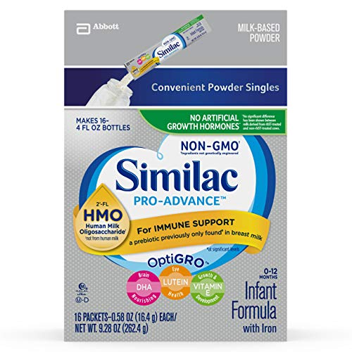Similac Pro-Advance Infant Formula with 2'-FL Human Milk Oligosaccharide (HMO) for Immune Support 2 fl oz, (Pack of 32)