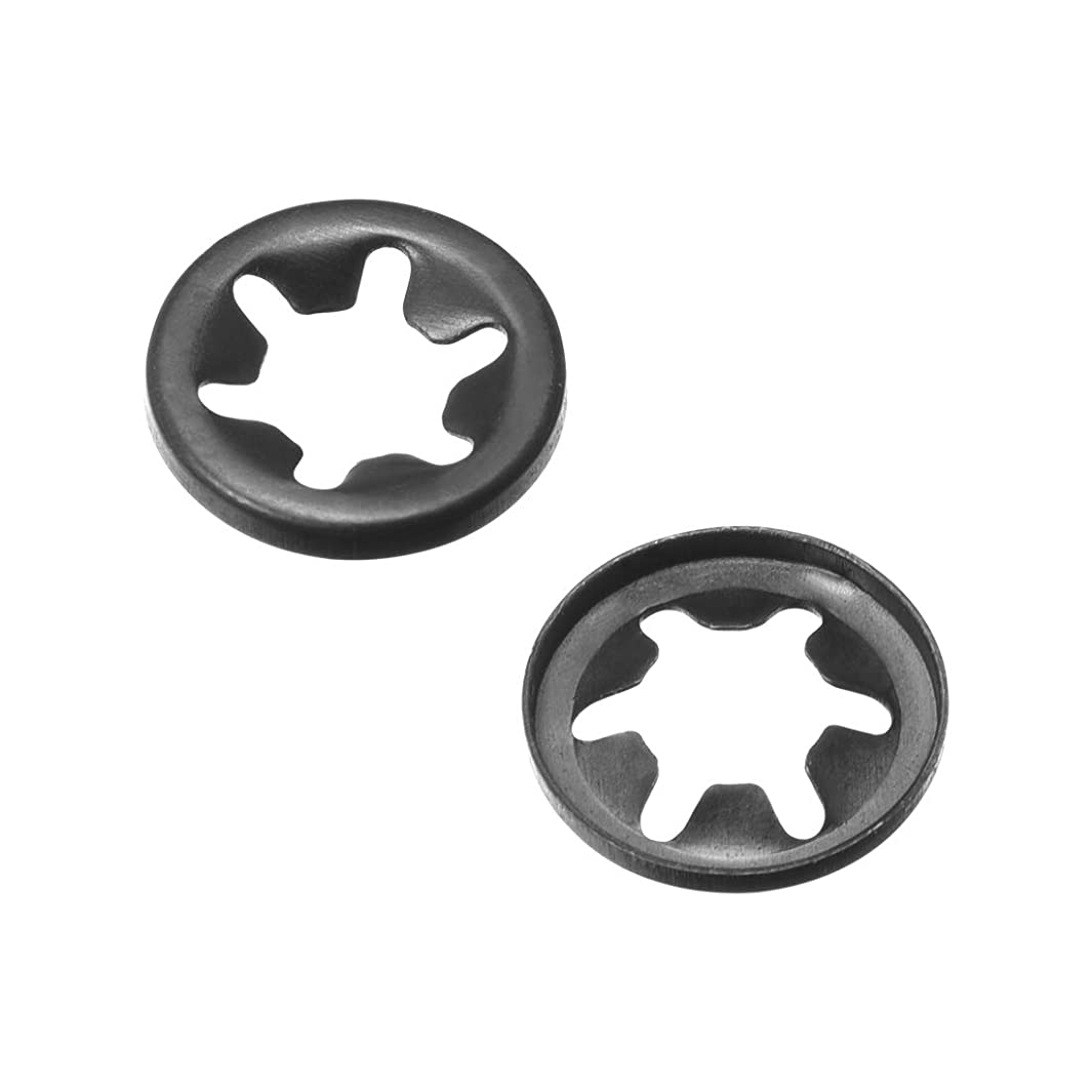 uxcell M5.5 Internal Tooth Starlock Washer, Push On Lock Washer Locking Washers Clips Fastener, 5.5mm Inner Dia 11.2mm Outer Dia, 200pcs