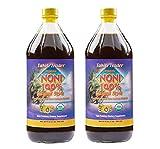 TAHITI TRADER Organic Noni 100% Island Style Juice 32 oz (2 Pack) - Noni Juice Organic Pure - Organic Noni Juice Tahiti - Juice Noni Tahiti Juice - High Potency 100% Pure Noni Juice