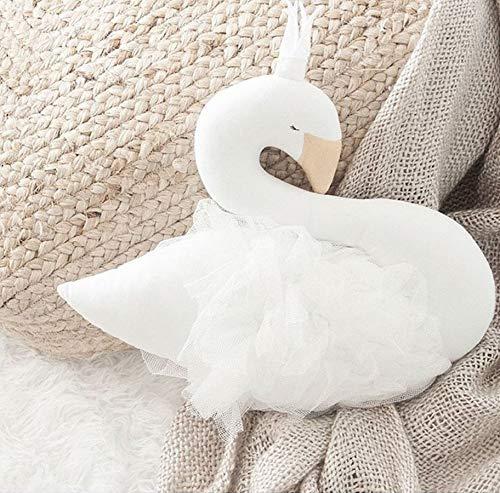 Almohada para bebé Swan Crown Gasa Almohada Cojín Bebé Acompañar a dormir Muñeca Accesorios de fotografía Cama para niños Decoración de la habitación Juguetes 30cm