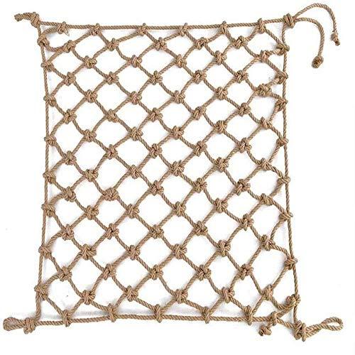 AA-SS Red de Cuerda de cáñamo - Cubiertas y cercas Red de Cuerda de Seguridad para protección de niños - Red de protección de Plantas Red de Cuerda de cáñamo anticaída