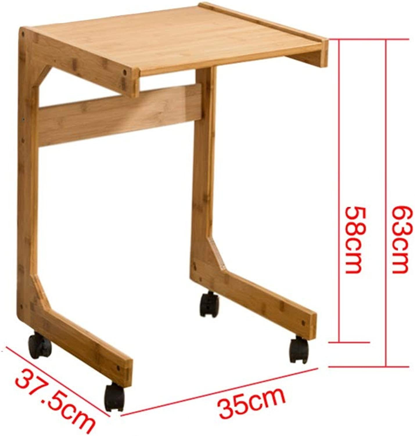 ZHAOYONGLI Tables,Coffee Tables Side Table Living Room End Table Coffee Table Laptop Stand Bedside Sofa Couch Nursing Table Bamboo (color   Bamboo Single Layer, Size   30  36.5  63cm)