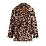 ZODOF Abrigo de Moda de Leopardo de Invierno Sudadera con Capucha del Invierno de Las...