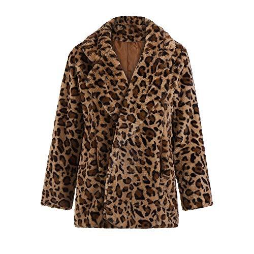 ZODOF Abrigo de Moda de Leopardo de Invierno Sudadera con Capucha del Invierno de Las Mujeres Calientes Sudadera con Capucha del Jersey de la impresión del Leopardo de Las Mujeres