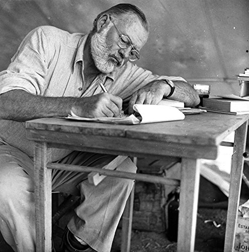 WonderClub Ernest Hemingway At Desk Writing Photo Great Authors Photos 8x8