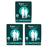 "Best Adult Diapers - KareMed Adult Diaper Large,Waist Size 101-139cm (40""-55""),30 Pcs Review"