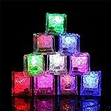 Xbeast Eiswürfel Lichter 12 Stücke Wasser Tauch Leuchten LED EIS Farbwechsel Party Leucht DIY...