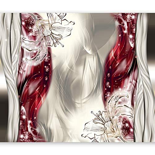 murando Papier peint intissé 300x210 cm Décoration Murale XXL Poster Tableaux Muraux Tapisserie Photo Trompe l'oeil Abstraction Fleurs a-A-0210-a-c