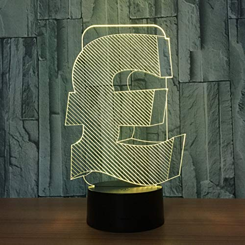 KangYD 3D Night Light Pound Sign Decor Lamp, LED Optical Illusion Lamp, F - Bluetooth Audio Base(5 Color), Kid Gift, Colorful Gradient, LED Lighting, Child Lamp, Office Decor Lamp