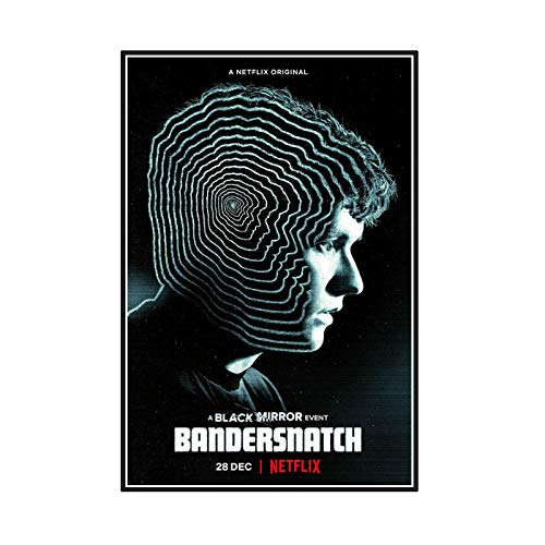 Chihie Black Mirror Bandersnatch Tv Serie Art Posters Canvas Painting Print for Home Wall Living Room Decor -20X28InchNoFrame1Pcs
