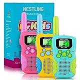 Nestling Walkie Talkie para niños,8 Canales LCD Pantalla Linterna Incorporado,Radio de 2 vías Juguetes,Rango de 3 Millas para Actividades Infantiles(3 Pack,Vistoso)