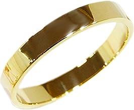 プレゼント K18 リング 3mm幅タイプ ファランジリング ミディリング ゴールド YG(18金イエローゴールド) WG(18金ホワイトゴールド) PG(18金ピンクゴールド) 職人 手作り 極細 リング オーダー (ホワイトゴールド, 16)