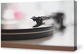 SIGNFORD Canvas Wall Art Retro Record Player Canvas Painting Wall Decor for Living Room Framed Home Decorations - 24x36 inches