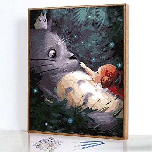 Diy Digitale Olieverfschilderij,Grote muis Schilderen Door Cijfers,Linnen Canvas ,Foto Voor Binnendecoratie - 40x50cm(Fotolijst)