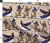 Spoonflower Stoff – Ägyptische alte Geschichte gedruckt