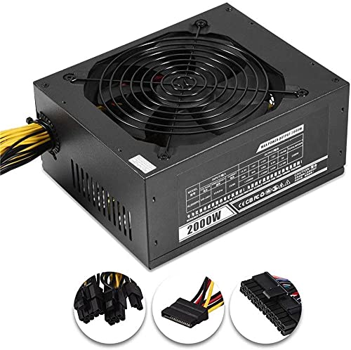 2000W Modular Mining Power ATX PSU Fuente de alimentación Bitcoin Miners PSU PC Power Supply 8 GPU Miner Mining rig 180-240V Pico PSU BTC Ethereum Power Mining