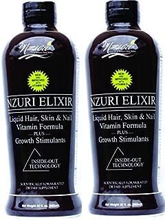 2-32 oz Bottles - Nzuri Elixir - Liquid Hair Vitamin Plus Growth Stimulants