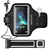 Galaxy S20/S10/S9/S8 Armband, JEMACHE Gym Running Exercises Workouts Phone Arm Band for Samsung Galaxy S20 S10 S9 S8 S7 Edge with Key Holder (Black)