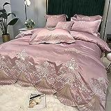 Exlcellexngce Juego De Funda De EdredóN 3D,Summer Luxury Palace Style Ropa De Cama, Verano 60 Hielo Seda Extra Gran Duvet Funda Doble Single Bed Pillowcase-Lecho_b_Cama De 2.0m (4pcs)
