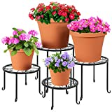 Best Choice Products Set of 4 Indoor Outdoor Metal Nesting Plant Stands,...