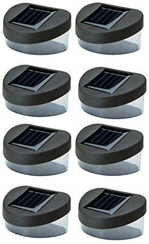 Garden Mile vif LED extérieur solaire eclairage de jardin noir platelage marche escalier Lumières plus sûr et plus durable Clôture PONT DOCK Allées Paysagisme ECOLIGHT Adéquat pour Jardin Cour Chemin