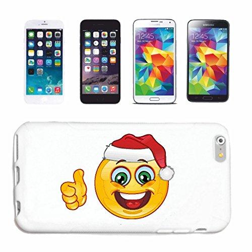 Bandenmarkt telefoonhoes compatibel met Samsung Galaxy S5 Mini Smiley als vrolijke kerstman met kerstmuts Smileys Smilies Android iPhone Emoticons IOS