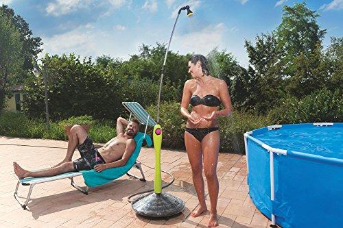 GF Garden, Doccia Solare Sunny Style, Doccia da Giardino, Piscina, per Esterno, ideale anche in Vacanza e Campeggio, con Miscelatore per acqua calda e fredda, colore Verde Lime