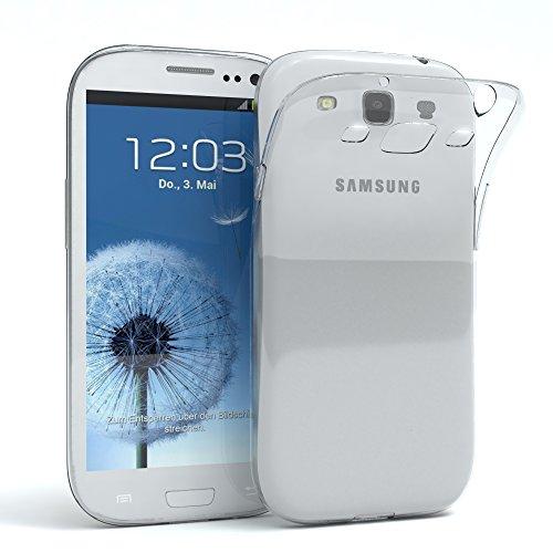 EAZY CASE Hülle für Samsung Galaxy S3 / S3 Neo Schutzhülle Silikon, Ultra dünn, Slimcover, Handyhülle, Silikonhülle, Backcover, Durchsichtig, Klar Transparent