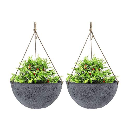 Best For High-Quality: La Jolíe Large Muse Outdoor Hanging Planters