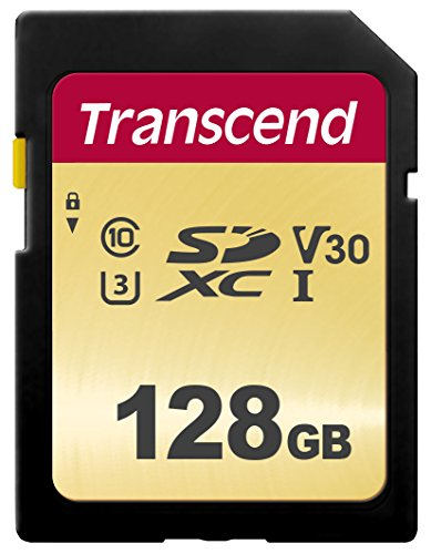 Transcend SDC500S - Tarjeta de memoria SDXC (128 GB) color dorado