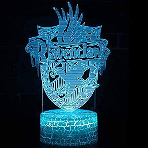 Night light Luz Nocturna de Harry Potter 3D, lámpara de Escritorio de Control Remoto LED táctil Creativa de 7 Colores, Regalo de cumpleaños de Navidad para niños