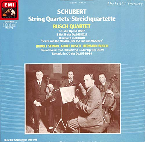 Schubert: Streichquartette; Quartet in G, op.161; Piano Trio in E flat op. 100 - EX 1372909503 - Vinyl Box