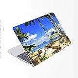 SDH Funda para MacBook Pro de 15 pulgadas con CD-ROM 2010 – 2012 lanzado,protectora dura y cubierta de teclado solo compatible para Mac Pro 15 pulgadas modelo A1286, Beach Scenery 12