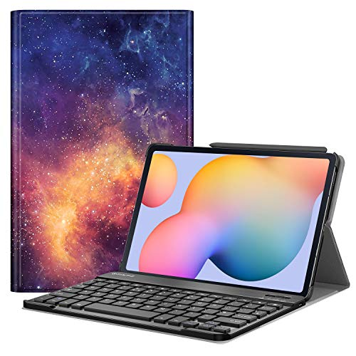 FINTIE Keyboard Case for Samsung Galaxy Tab S6 Lite 10.4 Inch Tablet 2020 (SM-P610/P615), Slim Stand Cover with Secure S Pen Holder, Detachable Wireless Bluetooth Keyboard (UK Version), Galaxy
