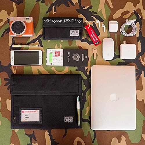 Rough Enough Expanding File Document Folder Bag Accordian File Organizer Accordion Filing Folders Case Portable Portfolio for School Office Travel in Black Cordura Photo #6