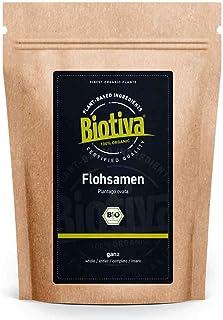Flohsamen Bio 1kg, ganz - 1000g - 99% Reinheit - Laktosefrei, Glutenfrei, vegan - Abgefüllt und kontrolliert in Deutschland DE-ÖKO-005