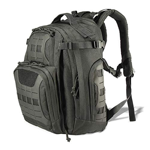 vAv YAKEDA Military Tactical Backpack for Men Army 3 Day Assault Pack 42L Large Molle Hiking Backpack (Black)