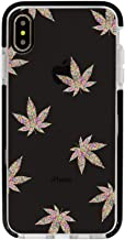 Ultra Slim iPhone Case - Silicone Protective Cover - Compatible for iPhone XR - Colorful Cannabis Pattern - Cool Case - Cute Weeds Background - Hipster - White Flexible Soft TPU Cover Case