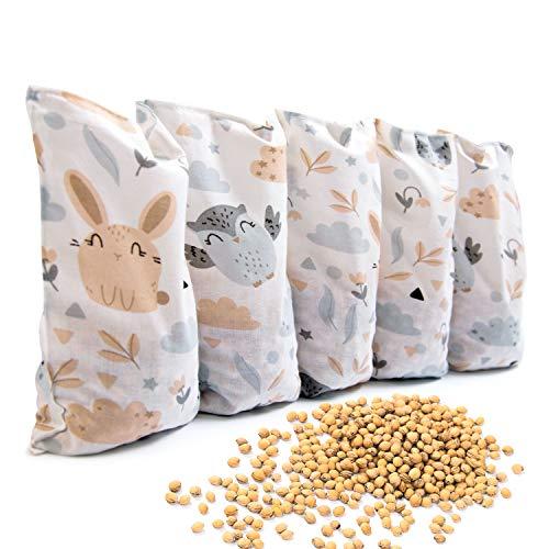 Amilian Kirschkernkissen 55 x 20cm Wärmekissen Wärmekompresse Körnerkissen Kirschkernsack Kirschkern Kissen für Kinder Erwachsene ideal als Massagekissen Kältekissen Lichtung