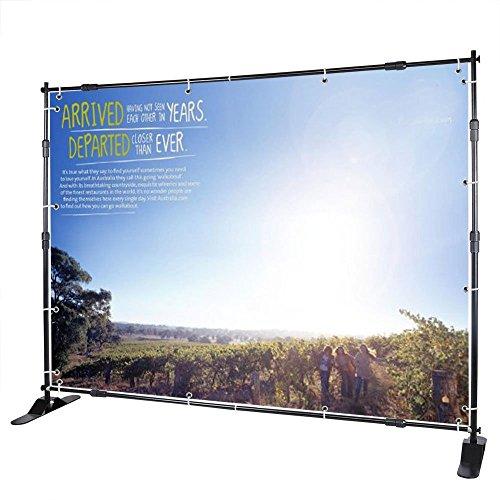 FurMune Banner-Ständer Banner Stand 8' Display Kulisse Einstellbare Teleskopfüße Leichtgewichtig Wandaussteller für Messen