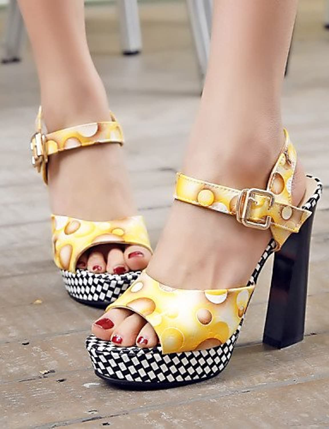MEIREN Women's shoes Chunky Heel Peep Toe Sandals More colors available