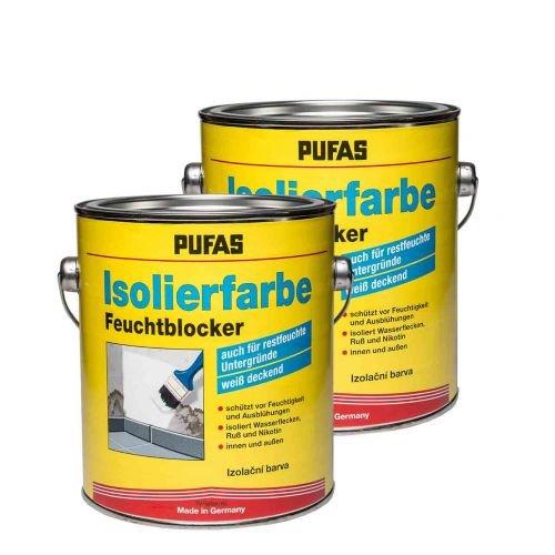 2 x Pufas Isolierfarbe Feuchtblocker 2l