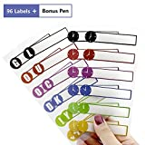 Name Labels Stickers for Kids and Adults, Self Adhesive Baby Bottle...