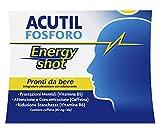 Acutil Fosforo Energy Shot, Integratore Alimentare per Memoria, Concentrazione e Energia con Caffeina e Vitamine B5 e B6, Riduce la Stanchezza, 3 Flaconi Pronti da Bere