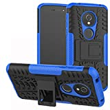 LiuShan Moto E5 / G6 Play Coque, Shockproof Robuste Impact Armure Hybride Béquille Housse Coque...