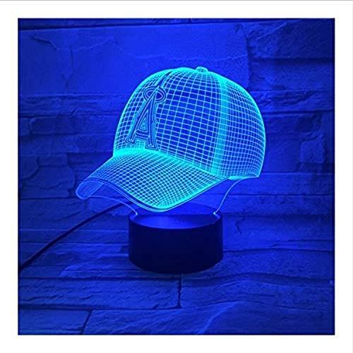 Los Angeles Engel von Anaheim Baseball Cap 3D LED Nachtlicht USB Lampara Kinder Kinder Geschenk Farbe Wickeltisch Lampe Schlafzimmer
