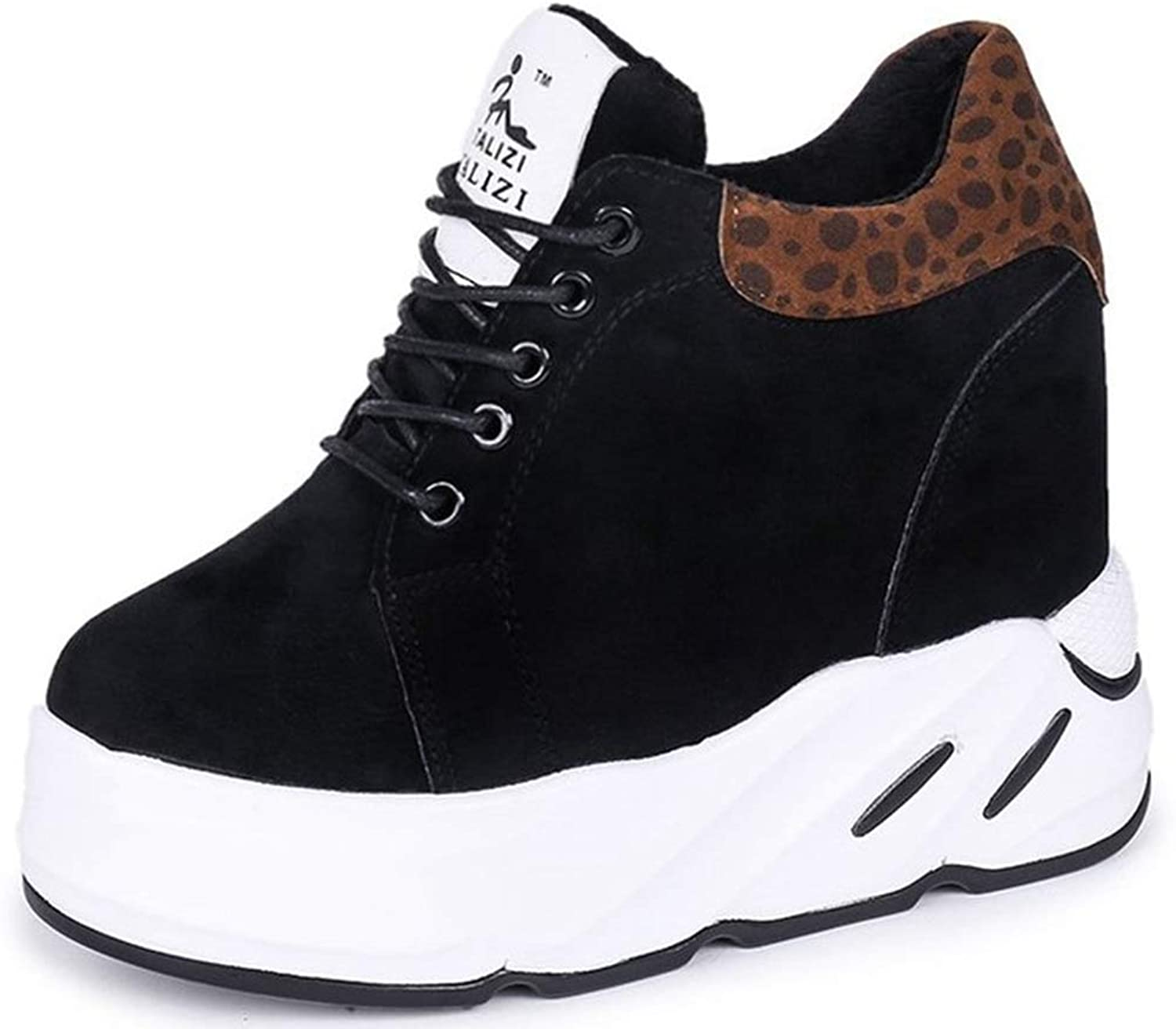 T-JULY Fashion Autumn Women Platform Wedges High Heel Winter Ankle Fashion-Sneakers Female Height Increasing shoes