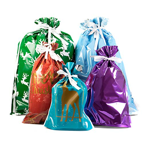Benedict 15/10pcs One-Tug Bags Christmas Drawstring Gift Bag Set Large Capacity Drawstring Bags