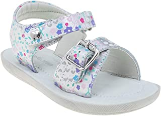elefanten Girls - Dream Sandals with Graphic Prints and Metallic Buckle, Extra Soft Padded Leather Insole, Fully Adjustable